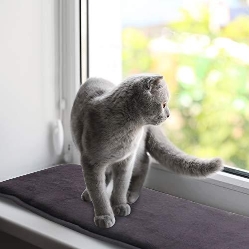 Pet Prime Katzenfenster-Liegematte für Fensterbänke Katzenfenster-Bettmatte 90 x 28 cm