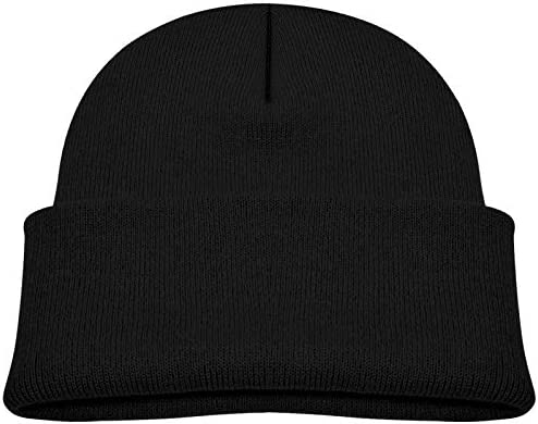 XISB2SDH Stud Muffin Soft Elastic Cap Warm Knitted Hat Beanie Cotton Cap Unisex Black product image