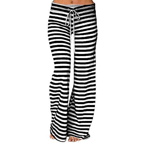 NP Leggings de mujer de cintura alta elástica suelta pierna ancha pantalones bailando pantalones