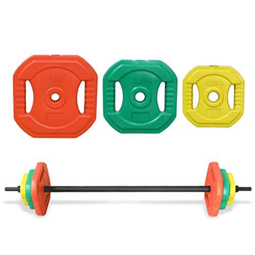 KXT Aerobic Langhantel Anzug Männer und Frauen Umweltschutz Langhantel Tabletten Haushalt Hand greifen Gewichtheben Langhantel Squat Barbell Fitness Ausrüstung (Größe: 2,5 kg * 2)