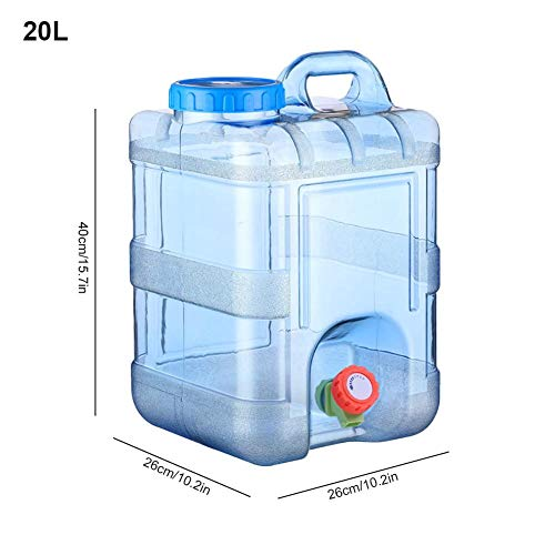 15L 20L Wassertank Für Fahrzeug Camping Picknick Outdoor BBQ Und Lange Reise Wasserbehälter Wasser Behälter Camping Wasserkanister Mit Hahn Wasserspender Kanister Transparent