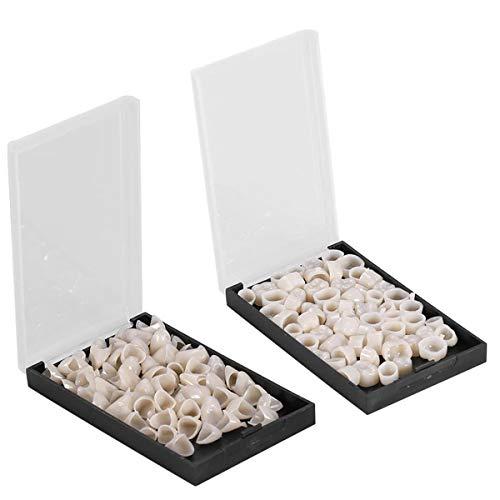 140 Stücke Instant Furniere Zahnersatz, Temporäre Vorderseite Rückseite Zahnkrone Prothesenzähne Multifunktion Temporäre Zahn Reparatur Set