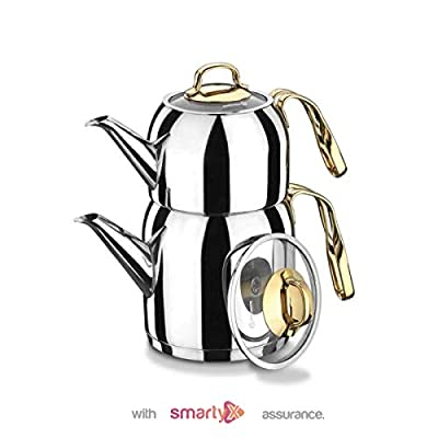SmartyX Turkish Teapot - 18/10 Premium Stainless Steel 1.6 Lt