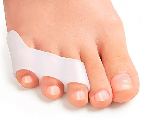 Bukihome 8 Stücke Zehenspreizer Kleiner Zeh, Zehenstrecker Silikon, Kleiner Zehenschutz für überlappende Zehen