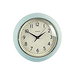 Jones clocks are proudly designed in the UK The Ketchup wall clock has a vintage influenced retro design, making it the perfect way to add style and function to a kitchen or home. Retro dial, compass hands and a convex glass lens. Add this versatile ...