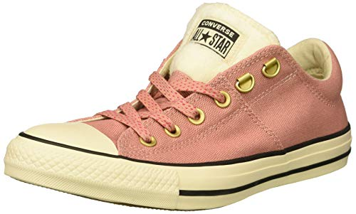 Converse Womens Chuck Taylor All Star Faux Fur Madison Low Top, Rust pink/Natural Ivory/Black, 5 M US