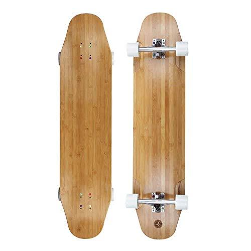 Almighty Longboard Skateboard, dreischichtigen Bambus Zwei-Schicht Fiberglas, Junge, Mädchen, Kind Erwachsene Allgemein Cruiser Board Skateboard QIANGQIANG