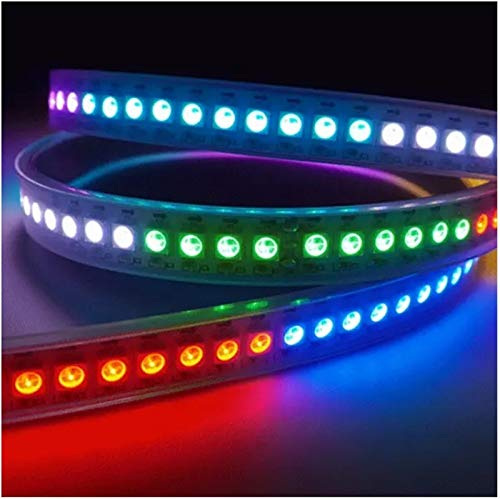 H/A WS2812B 5050 RGB Non Impermeabile IP20 60 LED/M Strip Lamp Striscia Dream Modifica Variante Singolo indirizzabile DC 5V 1/2/3/4 / 5m SADDM (Color : Black PCB, Size : 4m)
