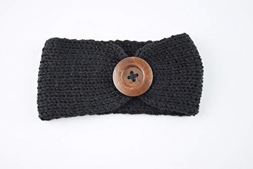 Longsheng Diadema para bebé con turbante para el pelo, para niña, con botón