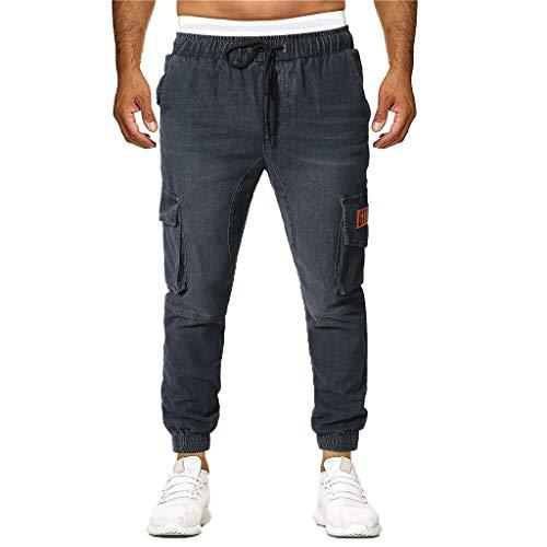 Pantalones Vaquero para Hombre,Pantalones Casuales Moda Trabajo Pantalones Jogging Pants Fitness Original Pantalones Chandal Hombre Largos Pantalones Ropa de Hombre Pantalones de Trekking vpass