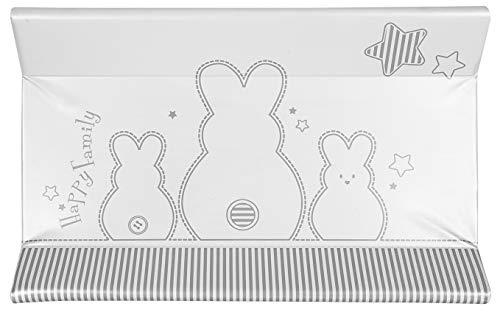 Brevi Confort, Materassino fasciatoio, Multicolore (Coniglio), 45 x 74 x 10 cm, Collezione 2021