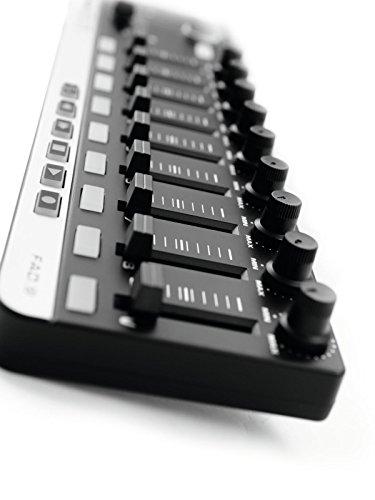 Omnitronic FAD-9 MIDI-Controller | USB-MIDI-Controller mit 9 Fadern für Musiker, Produzenten und DJs