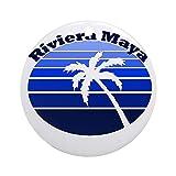 QgjayjqQ Riviera Maya, México ornamento (redondo) personalizado de cerámica para Navidad
