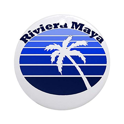 BeeTheOnly Riviera Maya, Mexico Ornament (Round) Round Holiday Christmas Ornament