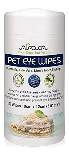 Arava Pet Eye Wipes,100 Count, for Dogs - Cats, Puppies &...