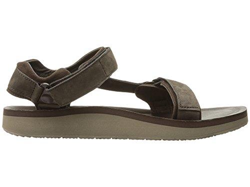 Teva Original Universe Premier Leather Sandal - Mens Casual Chocolate Brown