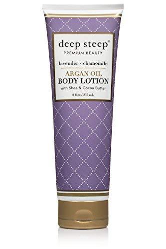Deep Steep Argan Oil Body Lotion, Lavender Chamomile, 8 Fluid Ounce