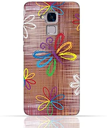 Huawei Honor 5c/Huawei Honor 7 Lite/Huawei GT3 TPU Silicone Case With Rainbow Butterfly Pattern