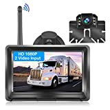 METEESER Wireless Backup Camera with 5 Inch Monitor for Truck, Camper, Car, SUV, HD 1080P Vehicle Backup Camera with Digital Signal Night Vision Waterproof Easy Installation