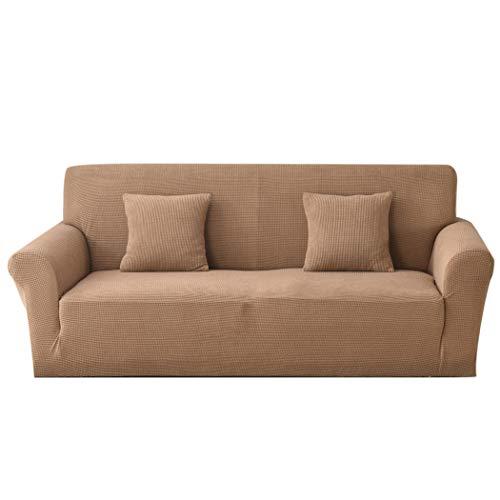 Carvapet Funda de sofá en Tejido Jacquard elástico salón Protección de Muebles (2 plazas, Camel)