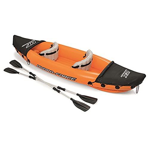 SETSCZY Kayak Hinchable para 2 Personas, barcas hinchables con Funda de PVC Resistente sujeción para sostener Equipaje, Estructura de Barra para Mayor Estabilidad en el Agua