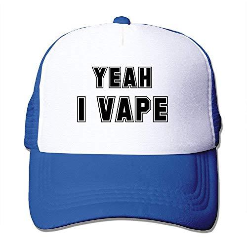 KASHFIHO Yeah I Vape Unisex Trucker Baseball Mesh Hat Adjustable Cool Cap