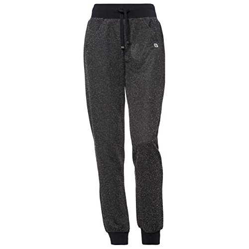 Pantalon Coupe Classique en Tweed, avec Bandes côtelées à la Taille et aux Chevilles - Salt - Pepper - Small
