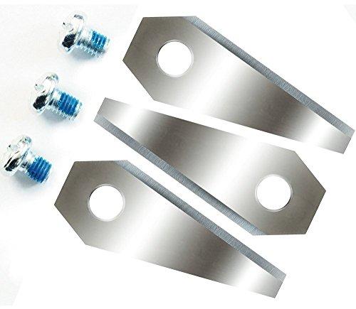 12 Ersatzmesser für Bosch Indego 4 Sets ( 3 Stück) = 12 Klingen scharf 2-seitig - wendbar Ersatzklingen 9
