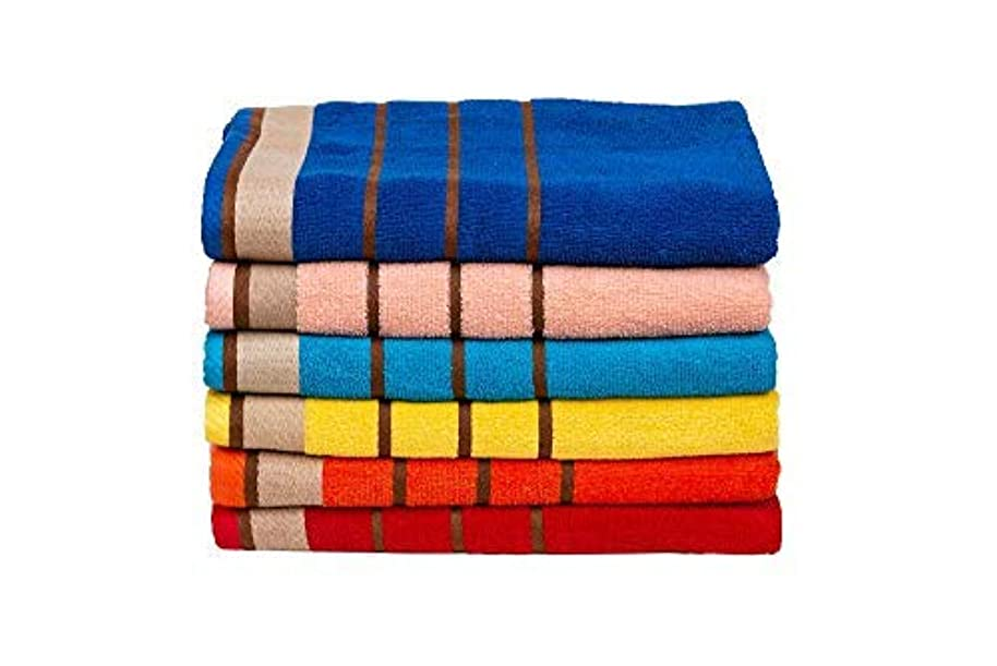 Bolbom*s 6-Pack Bath Towels-Extra-Absorbent-100% Cotton-27