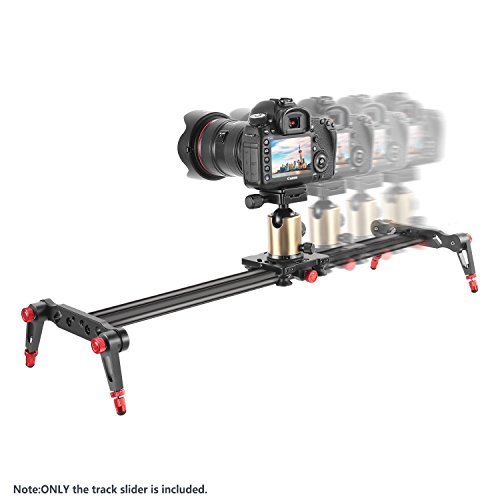 Neewer Aluminum Alloy Camera Track Slider Video Stabilizer Rail with 4 Bearings for DSLR Camera DV Video Camcorder Film Photography, Loads up to 17.5 pounds/8 kilograms (80cm)