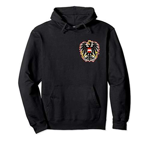Österreich österreichischer Adler Wappen klein dezent Brust Pullover Hoodie