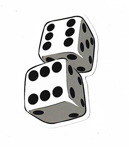 greestick Aufkleber Sticker Spielwürfel Gambling Dices Casino Schwarz Weiß Deko Pickerl