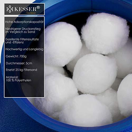 KESSER® Polysphere Filterbälle Filter Sandfilteranlage 700g ersetzen 25kg Filtersand Zubehör Ersatz Poolfilter Filteranlage