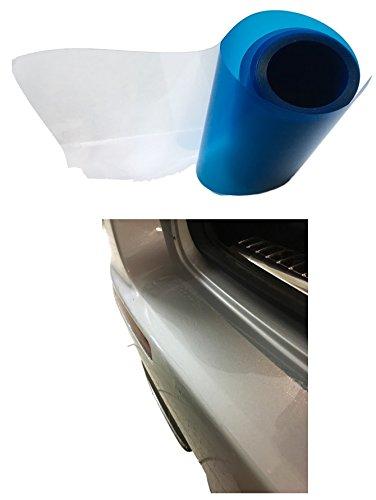 Lackschutzfolie TRANSPARENT 5Meter x 15cm – Selbstklebend als Laie anbringen für Auto PKW KFZ Kofferraum Türen Einstiegsleisten – Kratzer Schutz Durchsichtig – Ladekante – Folie Schutzfolie