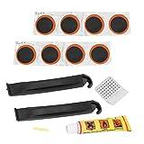 SOONHUA Kit de Reparación Pinchazos 8Pcs / Set Adhesivos Punción sin Adhesivo Bicicleta Parche Neumático Accesorio Herramienta Adecuado para La Mayoría Los Neumáticos Enchufe