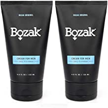 Bozak Antifungal Menthol Cream for Men – Treats and Prevents Jock Itch and Athlete's Foot – Talc Free, Deodorant, Stops Chafing, Absorbs Sweat, and Keeps Skin Dry – 2% Miconazole Nitrate – 2 Pack
