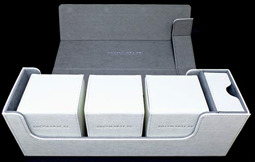 Docsmagic.de Premium Magnetic Tray Long Box White Medium + 3 Flip Boxes