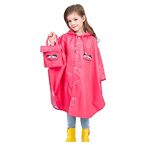 Wetry Poncho Impermeabile Bambini,Unisex Mantellina Pioggia Antipioggia Poncho di Famiglia con Bag 75-175CM