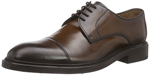 Lottusse HARRYS L6723, Derby Hombre, marrón-Braun (Jocker Old Teak), 40.5 EU