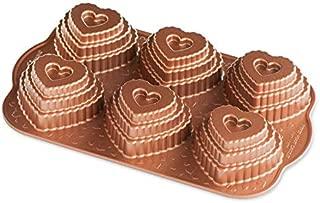 Nordic Ware 90937 Cast Bundt Bakeware Tiered Heart Cakelets