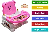 Tender Care 6-in-1 Baby Booster Seat/High Chair with Comfortable Seat (6-36 Months) (Pink)