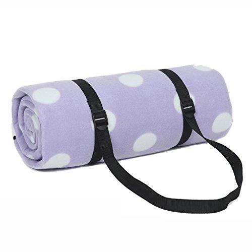 Picknickdecken Dot Stil Camping Matte Zelt Feuchtigkeits Pad Im Freien Wasserdichte Teppich 170 * 200 cm (Farbe : Lila)