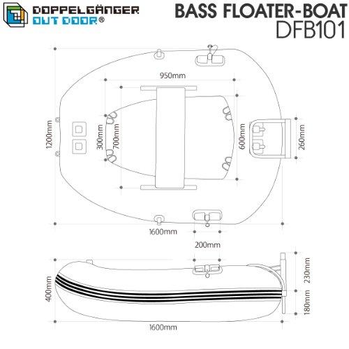 DOD『バスフローターボートDFB101』