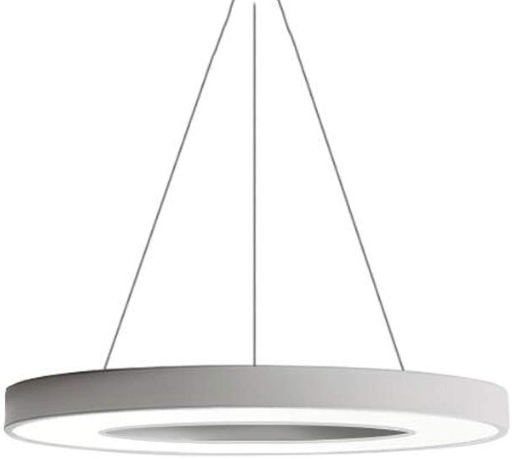 ZYY Plafonnier rond à LED, suspension réglable en noir et blanc, salon de la chambre à coucher créative, luminaire lustre (couleur  blanc-40)
