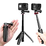 Extendable Selfie Stick for Gopro,2 in 1 Mini Tripod Stand for Gopro Hero 9/8/7/6/5,Portable Handle Vlog Tripod for All Gopro Action Cameras,Osmo Action Accessories
