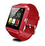Modogirl Smartwatch U8 Touch-screen + Keypad Music Player Steps Counting Pedometer Calories Burned Measuring Facebook Twitter Anti-Lost Alerts Synchronize Dhone Calls SMS Contacts, TUP, Red