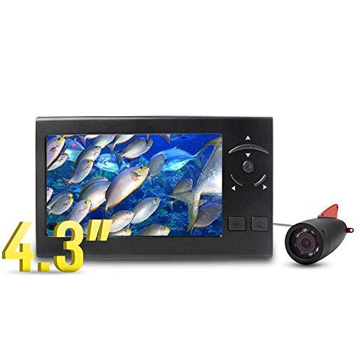 SG Style Cámara De Pescar Portátil Bajo El Agua con 4.3' 'Monitor LCD Portátil 720P AHD 15M Pescado De Profundidad del Finder, IP68 A Prueba De Agua para El Hielo, Lago, Barco, Pesca