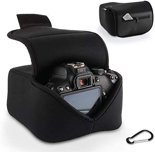DSLR Kameratasche Schutztasche Digitalkamera Zubehör Aufbewahrungstasche mit Neoprenschutz (Farbe: Schwarz) für Nikon, Canon, Olympus, Panasonic, Pentax, Samsung, Sony und viele andere mehr