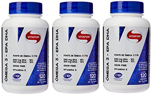 Kit 3x Omega 3 Vitafor 1000mg EPA/DHA 120 caps