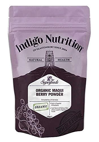 Indigo Herbs Organic Maqui Berry Powder 100g   Freeze Dried   GMO Free   High Antioxidant Value